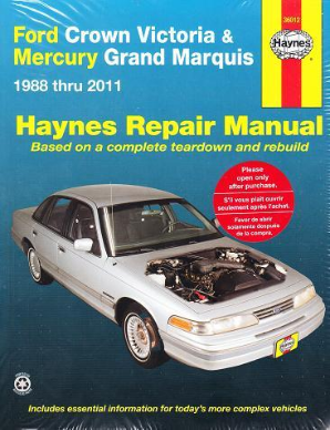 1988 - 2011 Ford Crown Victoria and Mercury Grand Marquis Haynes Repair Manual