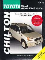 1996 - 2012 Toyota RAV4 Chilton's Total Car Care Manual