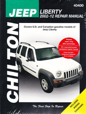 2002 - 2012 Jeep Liberty Chilton's Total Car Care Manual