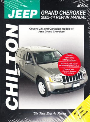 2005 - 2014 Jeep Grand Cherokee Chilton Repair Manual