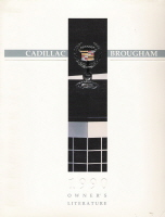 1990 Cadillac Brougham Owner's Manual
