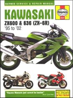 1995 - 2002 Kawasaki ZX600, 636 (ZX-6R) Haynes Repair Manual