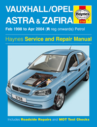 Feb 1998 - Apr 2004 (R-04 Reg) Vauxhall, Opel Astra & Zafira Gas (Petrol) Haynes Repair Manual