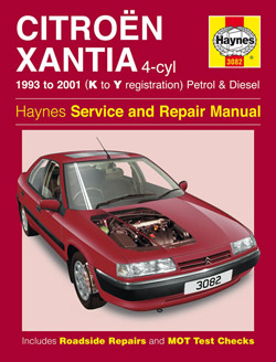 1993 - 2001 (K to Y) Citroen Xantia Petrol & Diesel Haynes Repair Manual