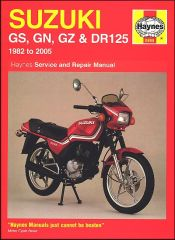 1982 - 2005 Suzuki GS125, GS125ES, GN125, GZ125 Marauder, DR125S Repair Manual