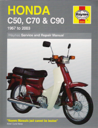 1967 - 2003 Honda C50, C70, C90 Haynes Repair Manual