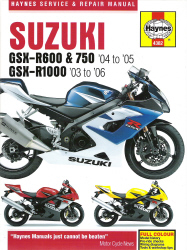 2003 - 2006 Suzuki GSX-R600, 750 & 1000 Haynes Repair Manual