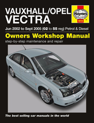 2002 - 2005 Vauxhall, Opel Vectra Petrol & Diesel Haynes Repair Manual