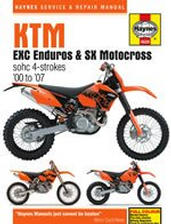 2000 - 2007 KTM EXC Enduros & SX Motocross Haynes Motorcycle Repair Manual