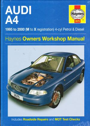 1995 - 2000 (M-V-X) Audi A4 Gas & Diesel Haynes Repair Manual
