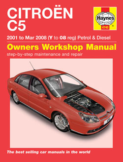 2001 - March 2008 Citroen C5 Gas & Diesel Haynes Repair Manual