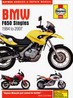 1994 - 2007 BMW F650 Singles Haynes Repair Manual