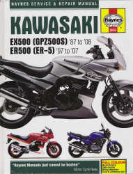 1997 - 2007 Kawasaki EX500 1987-2008, ER500 Haynes Repair & Service Manual