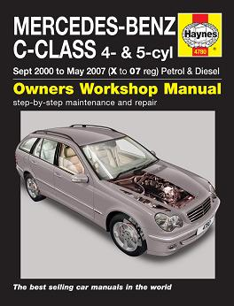 2000 - 2007 Mercedes-Benz C-Class Petrol & Diesel, Haynes Repair Manual