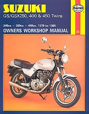 1979 - 1985 Suzuki GS250, GSX250, GS400, GSX400, GS450 Haynes Repair Manual
