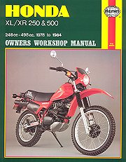 1978 - 1984 Honda XL250, XR250, XL500, XR500 Haynes Repair & Service Manual