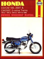 1977 - 1985 Honda CD185, CM185, CD200, CM200, CM250C 2-Valve Twins, Haynes Repair Manual