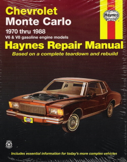 1970 - 1988 Chevrolet Monte Carlo Haynes Repair Manual