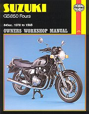 1978 - 1988 Suzuki GS850 Four Haynes Repair Manual