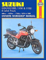 1979 - 1988 Suzuki Katana GSX1000, GSX1100, GS1000, GS1100, GS1150 Haynes Repair Manual