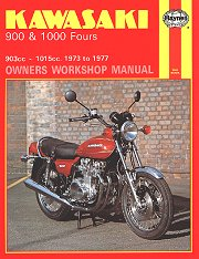 1973 - 1977 Kawasaki Z1, KZ900, Z900, KZ1000, Z1000 Fours Haynes Repair Manual
