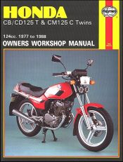 1977 - 1988 Honda CB125T, CD125T, CM125C Haynes Repair Manual