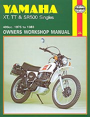 1975 - 1983 Yamaha XT500, TT500, SR500 Haynes Repair & Service Manual