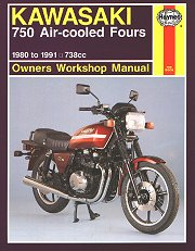 1980 - 1991 Kawasaki GPZ750, KZ750, Z750, ZX750 Fours Haynes Repair Manual