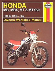 1980 - 1993 Honda MB, MBX, MT, MTX50 Haynes Repair & Service Manual