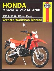 1983 - 1993 Honda MBX125, MTX125, MTX200 Haynes Repair Manual