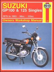1978 - 1993 Suzuki GP100, GP125 Haynes Repair Manual