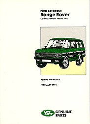 1994 - 1994 Range Rover Factory Parts Catalog (Includes 1995 Classic)