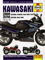 1985 - 1997 Kawasaki Ninja ZX600, ZX750 Haynes Repair Manual