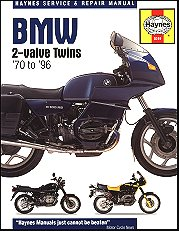 1970 - 1996 BMW R45, R50, R60, R65, R75, R80, R90, R100, R1000 Haynes Repair Manual