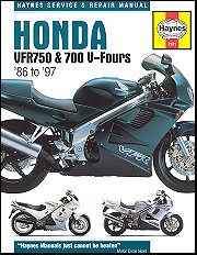 1986 - 1997 Honda VFR750, VFR700 V-Fours Haynes Repair & Service Manual