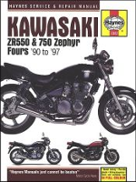 1990 - 1997 Kawasaki ZR550, ZR750 Zephyr Fours Haynes Repair Manual