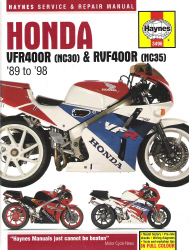 1989 - 1998 Honda VFR400R & RVF400R Haynes Repair Manual