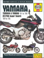 1991 - 1999 Yamaha TDM850, TRX850, 1989 - 1995 XTZ750 Super Tenere Owners Workshop Manual