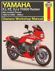 1984 - 1992 Yamaha FJ600, FZ600, XJ600, YX600 Radian Haynes Owners Workshop Manual