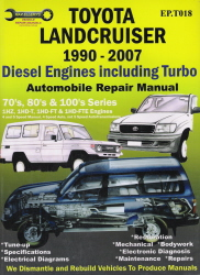 1990 - 2007 Toyota Landcruiser Diesel Engine including Turbo Auto Repair Manual