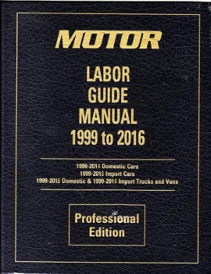 1999 - 2016 MOTOR Auto, Light Truck, Van SUV Labor Time Flat Rate Guide