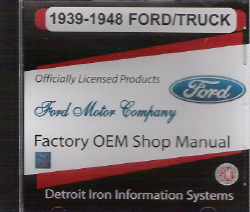 1939-1948 Ford, Lincoln & Mercury Car &Truck Factory Shop Manual on CD-ROM