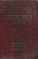 1933 - 1940 Chilton Flat Rate and Service Manual, 14th Edition