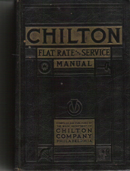 1936 - 1942 Chilton Flat Rate and Service Manual, 16th Edition
