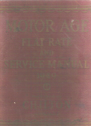 1940 - 1949 Chilton Flat Rate & Service Manual  20th Edition