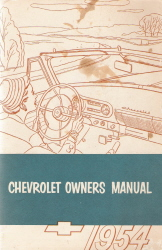 1954 Chevrolet Owners Manual
