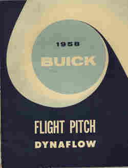 1958 Buick Flight Pitch Dynaflow Transmission Manual
