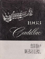 1963 Cadillac Factory Shop Manual