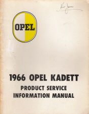 1966 Opel Kadett Product Service Information Manual
