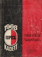 1968 Opel Kadett Service Manual